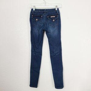 Hudson Girls 14 Dark Flap Pocket Skinny Jeans